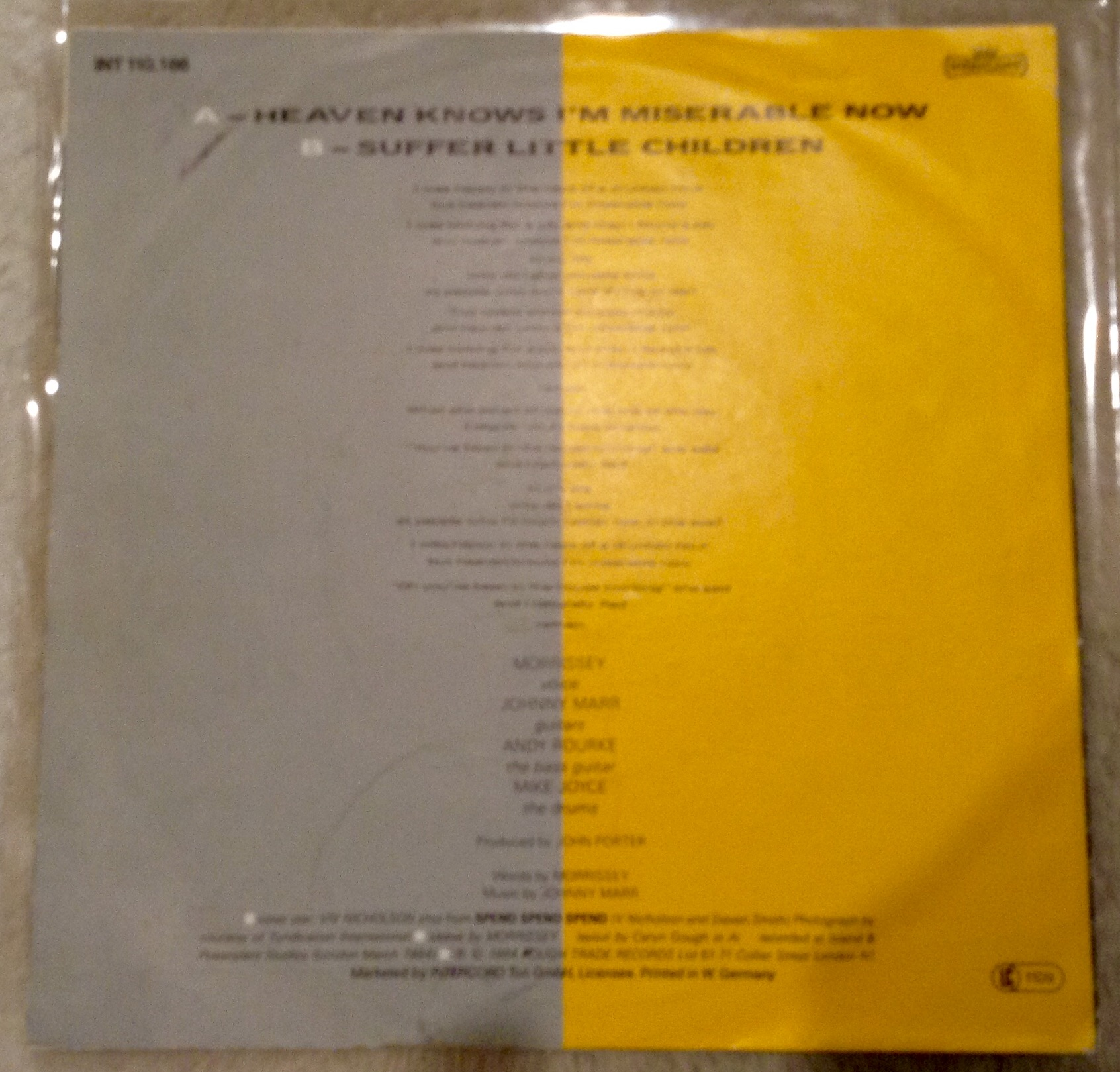 German Multi Coloured Promo Quot The Smiths Lp Others For