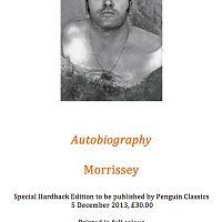 autobiography morrissey special hardback release