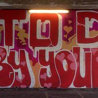 Graffiti near Waterloo Bridge
