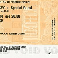 Florence 2014 Ticket